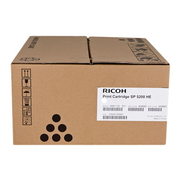 TONER RICOH SP5200HA SP5210 406683 ORIGINAL BLACK